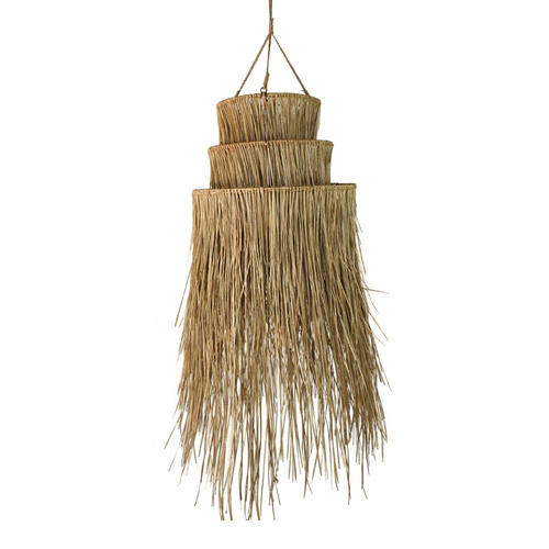 Anisha 3 Tier Alang Alang Pendant Light Shade (Small)