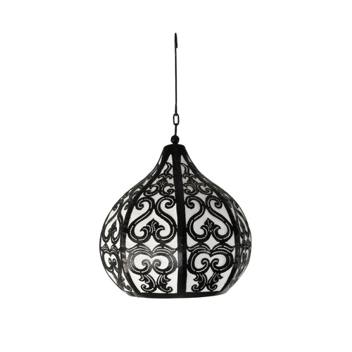 Moroccan Lotus Bud Hanging Lantern (Medium)
